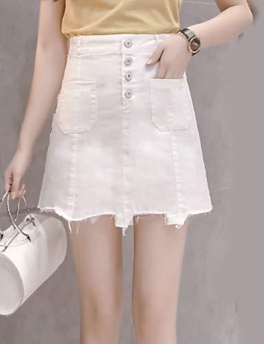 Jeans Black Unie YFLTZ pour Chic Street Couleur Pantalon Femme ZUPPqwn7C