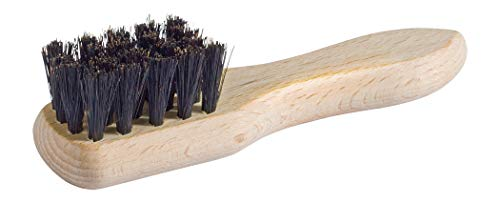 Redecker Natural Pig Bristle Shoe Polish Applicator Brush with Untreated Beechwood Handle, 4-3/4-Inches, Black