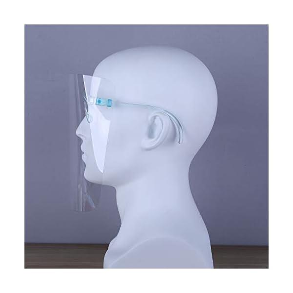 Protector Facial de Seguridad Reutilizable con Gafas de Visera, Capa Transparente antivaho para Proteger los Ojos de Las Salpicaduras para Mujeres, Hombres, niños y niños (10 Unidades) 12