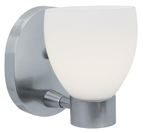 Frisco - 1-Light Vanity - Brushed Steel Finish - Opal Glass Shade