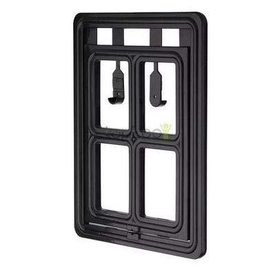 Double Large double Large Two-Way Pet Door, Screen Window Door, Dog Door, Cat Door, Cat Hole, Easy to Install, Black,Double,L