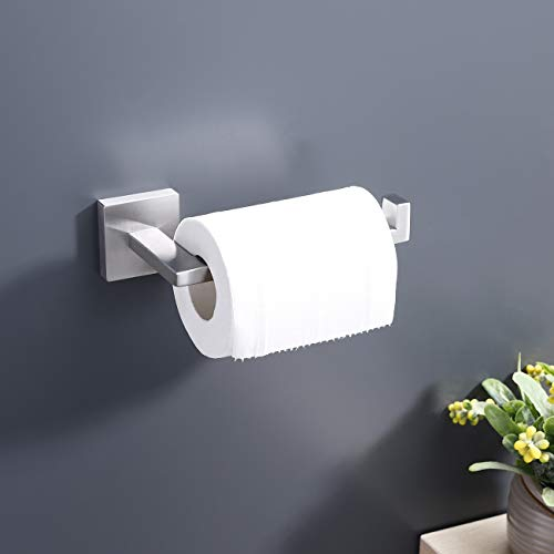Kes Bathroom Toilet Paper Holder Wall Mount Brushed SUS 304 Stainless Steel Modern Style, A22570-2