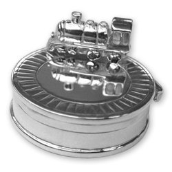 Sterling Silver Train on Track Tooth Box