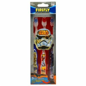 Star Wars Brosses à dents pour enfants avec ventouse stand - Pack 3