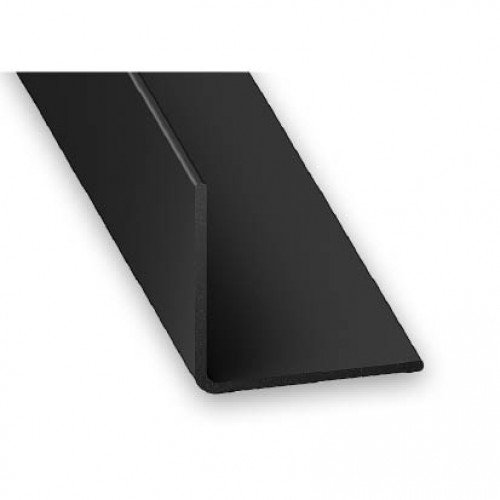 black 1 2 metre upvc plastic rigid angle 25mm x 25mm trim lengths 90 degree pack size 2. Black Bedroom Furniture Sets. Home Design Ideas
