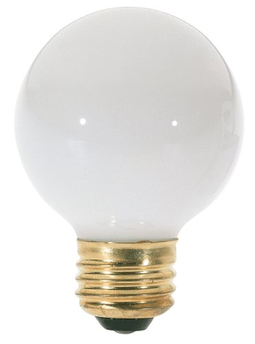 (Satco S3828 120V Medium Base 40-Watt G18.5 Light Bulb, Gloss)