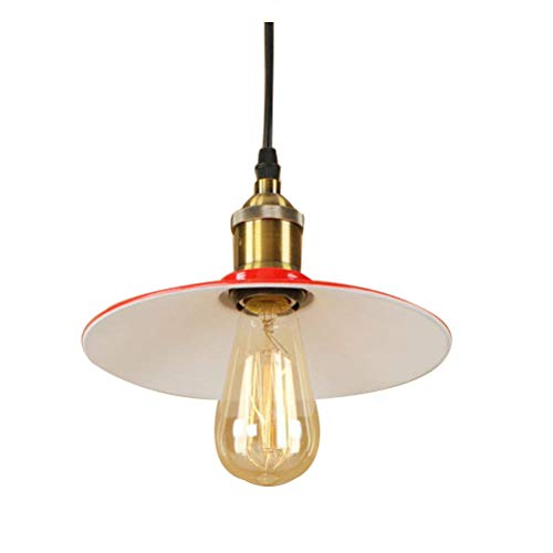 YANYUWEM Vintage Country Pendant Light Downlight - Mini Style LED Hanging Light, Bulb Not Included 220-240V,Red Chandelier,26Cm [Energy Class A++]