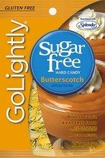 Go Lightly Sugar Free Hard Candy Butterscotch, 2.75 oz bag, Kosher