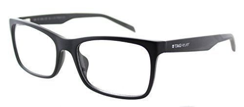 Tag heuer tag b urban 0554 c 001 black dark grey plastic rectangle eyeglasses buy online in for Tag heuer b urban 0554