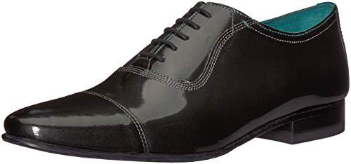 Ted Baker Men's SHARNEY Oxford, Grey/Metallic Leather, 10 Medium ()
