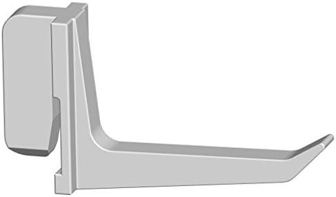 Element System Kunststoffhaken, 10 Stück für Werkzeuglochwand, Lochplattenwand, 4 cm und 7,5 cm, weiß