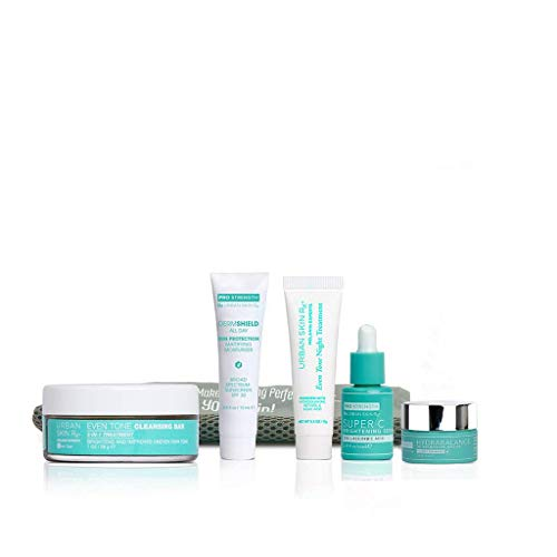 Urban Skin Rx Dark Spot and Even Tone Essentials Travel Kit | Includes 5 Best Sellers That Improve the Appearance of Skin Tone, Dullness, Blemishes, Formulated with Hyaluronic Acid | 30 Day Supply