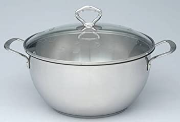 Princess House Heritage 8 Quart Stainless Casserole & Glass Lid
