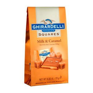 Ghirardelli Chocolate Milk Chocolate & Caramel Squares Chocolates Gift Bag, 5.32 oz. (Chocolate Ghirardelli Milk)