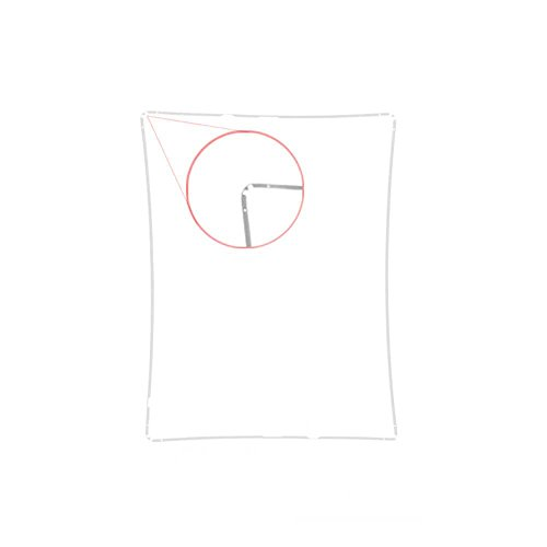 Lot of 2 White iPad Mid Frame Spacer Bezel with Adhesive for iPad 2