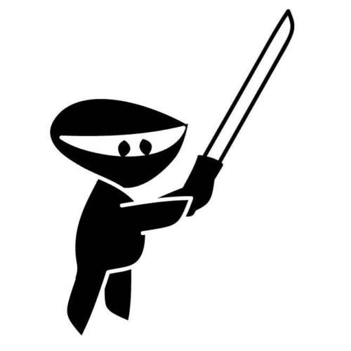 Amazon.com: NINJA CARTOON SILHOUETTE CAR DECAL STICKER ...
