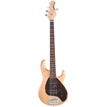 Ernie Ball Music Man Stingray 5 String Bass, Natural, Rosewood Board