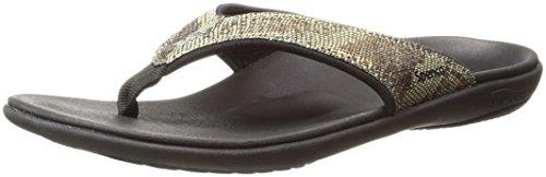 Spenco Women's Yumi Python Flip Flop, Copper, 9 M US (Sandals Thong Python)