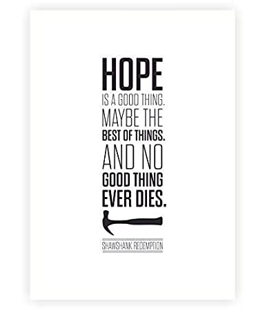 Amazon.com: LAB NO 4 Hope is a Good Thing The Shawshank ...