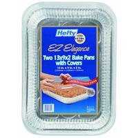 99940 Hefty EZ Foil Rectangular Cake Pan w/Cover 13\
