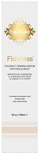 Fake Bake Flawless Coconut Tanning Serum, Face & Body, 5 oz (Best Smelling Gradual Self Tanner)