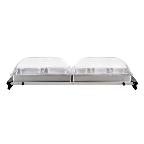 (BroilKing NBS-5RT Professional Grand Buffet Server with Rolltop Lids)