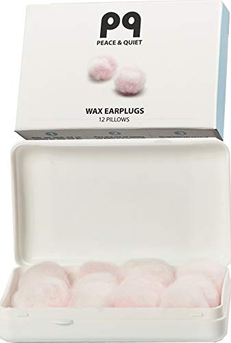 PQ Wax Earplugs for Sleep - Moldable Wax Ear Plugs for Sleeping - Swimming - Shooting - Snoring - Sound Blocking Level 32 dB - Noise Cancelling Womens Ear Plugs
