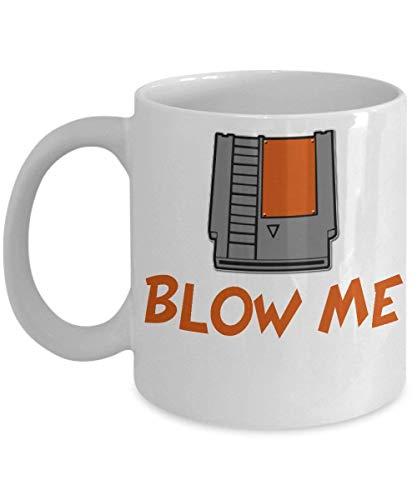 Blow Me I'm Hot Mug (White) 11-oz - Sarcastic Coffee Mug Cup - Sarcastic Mug- Perfect Sarcastic Funny Gift Mug For Friends Dad Mom Coworker Gif -