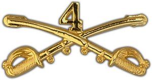 "US Army 4th Cavalry 2"" Pin"