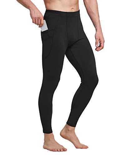 BALEAF Men's Active Yoga Leggings Athletic Dance Tights Gym Training Workout Pants Side Pocketed