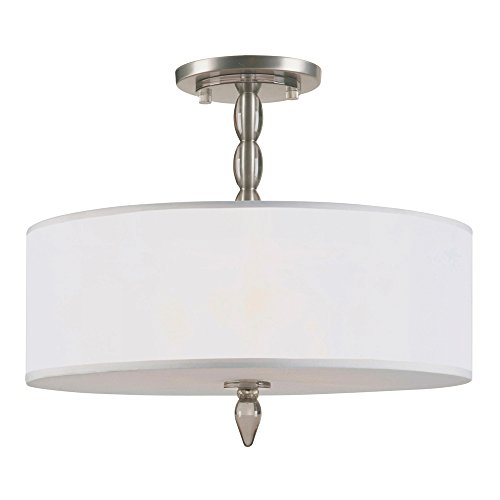 Luxo 3 Light Chandelier Finish: Satin Nickel