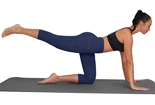 LifeSky Women Yoga Capri Pants with Pockets High Waist Tummy Control Leggings 4 Way Stretch Soft Running Leggings