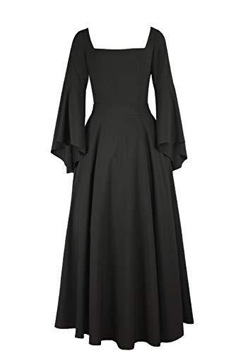 Vestido De Rockabilly Pagana Medieval Halloween Para Gótico Gothic Largo Bruja CqHvCt