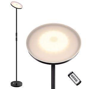 Albrillo 20W LED Lampadaire – Infinite Dimmable Lampe Sur Pied avec 3 Températures de Couleur [3000K/4000K/5000K…