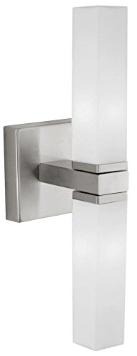 Matte Nickel Palermo Two-Bulb Wall Sconce