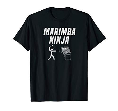 Marching Marimba - Marimba Ninja Funny Marching Band T-Shirt