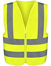Neiko 53942A High Visibility Safety Vest, X-Large, Neon Yellow