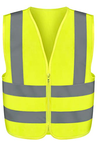 Neiko 53941A High Visibility Safety Vest, Large, Neon Yellow