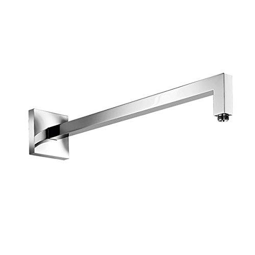 Blu Bathworks TAE500S Reinforced Wall-Mount Square Shower Arm, Polished Chrome Finish ()