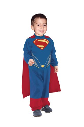 "Rubie's Kid's Superman Man Of Steel Tiny Tikes Costume, Toddler, 1 - 2 years, HEIGHT 2' 11"" - 3' (Superman Man Of Steel Costume For Kids)"