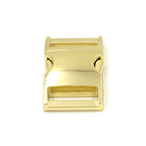 m 1 Inch Gold Metal Release Buckles Clasps for Paracord Backpack Webbing Bracelets ()