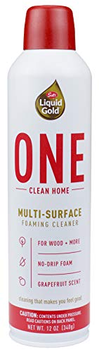 Scott's Liquid Gold ONE Clean Home | Multi Foaming Cleaner | Works on All Types of Hard Surfaces | Non-Toxic Formula is Safe for People, Pets and The Planet | Fresh Grapefruit Scent, 12 Oz