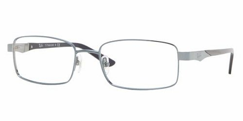 ab2dff9c87 Image Unavailable. Image not available for. Color  Ray Ban Optical Men s  8615 Light Blue Frame Titanium ...