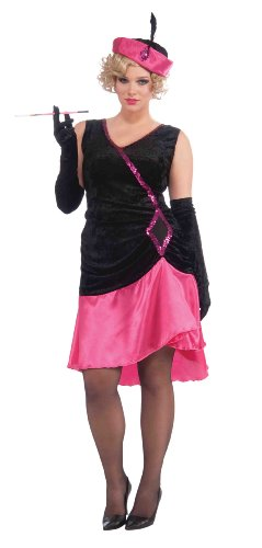 [Forum Roaring 20S Penny Pink Flapper Costume, Pink, Plus] (Really Sexy Halloween Costumes)