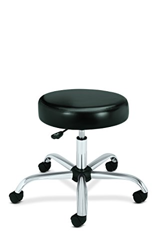HON Medical Stool – Vinyl Backless Exam Stool, Black (HMTS01)