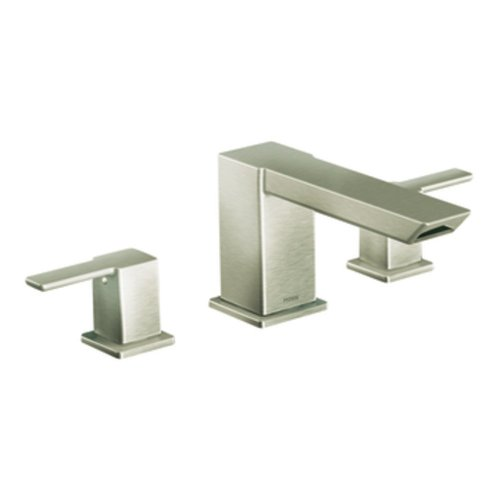 (Moen Ts903Bn 90 Degree Two-Handle High Arc Roman Tub Faucet, Brushed Nickel )