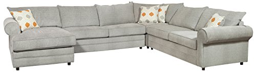 4-Pc Sectional Set with Sagittarius Pewter Cover