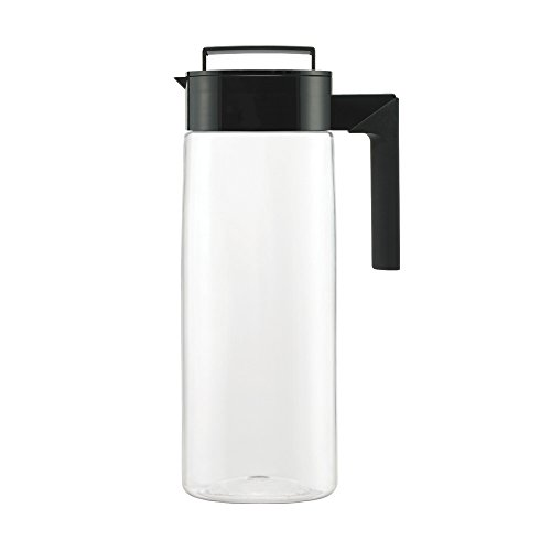 (Takeya Patented and Airtight Pitcher Made in the USA, 2 Quart, Black)