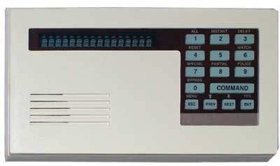 D1255 BOSCH ALPHA NUMERIC COMMAND CENTER WITH VACUUM FLUORESCENT DISPLAY - OFF-WHITE ENCLOSURE