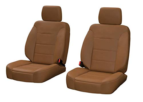 - Front Seats: ShearComfort Custom Sof-Touch Imitation Leather Seat Covers for Chevy Cobalt (2005-2010) in Solid Caramel for Low Back Sport Buckets w/Adjustable Headrests (Supercharged SS Coupe)